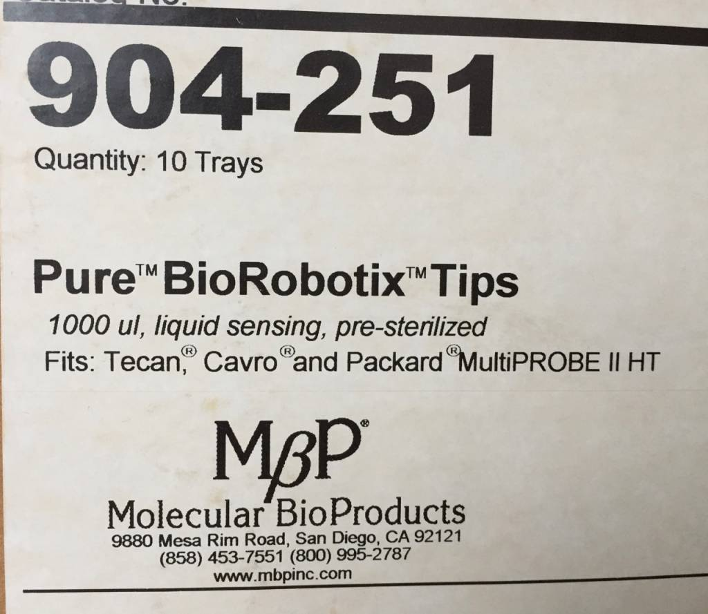 Molecular BioProducts Molecular BioProducts Pure BioRobotix Tips 904-251
