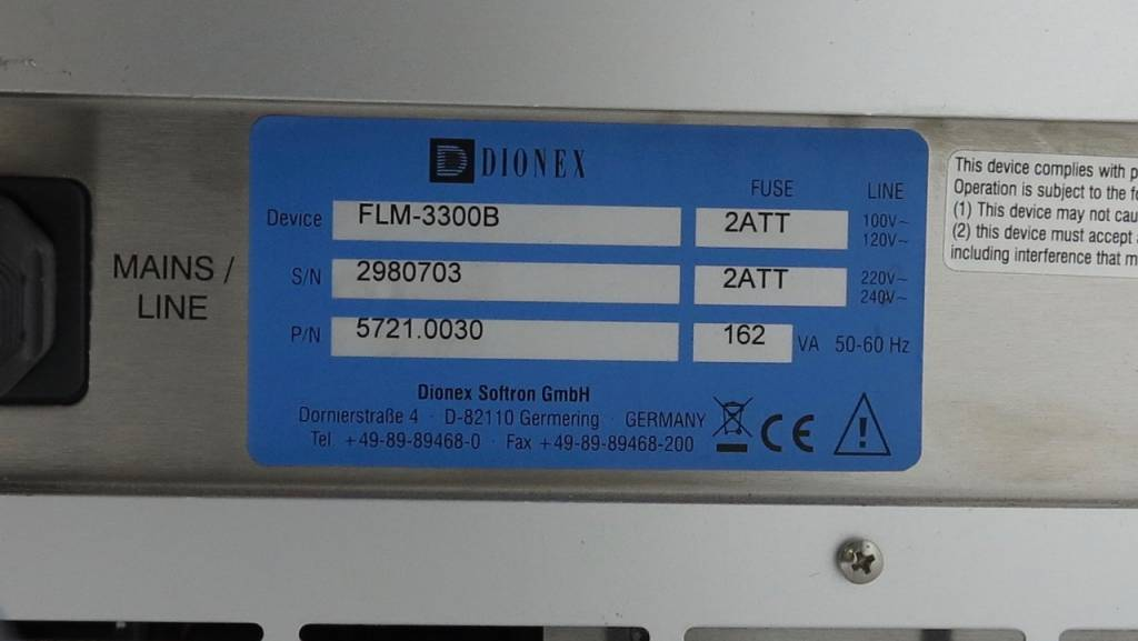 Thermo Dionex Dionex UltiMate 3000 Flow Manager FLM-3300B