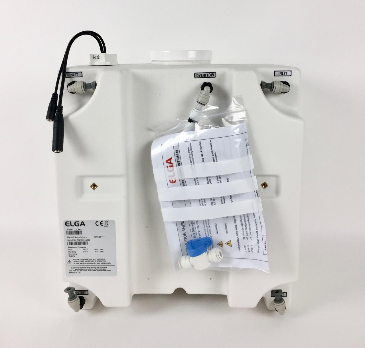 Veolia ELGA 25 Liter Tank mit 5 Niveauschaltern