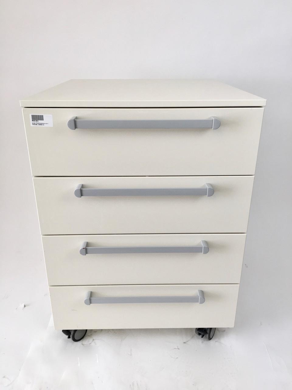 Waldner Waldner MC6 mobile cabinet, 4 drawers, 60 cm width, 82cm height