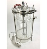 Glasreactor / Fermenter - double wall, 8 Liters