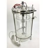 Glasreaktor / Fermenter - doppelwandig, 8 Liter