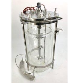 Glasreactor / Fermenter - double wall, 8 Liters
