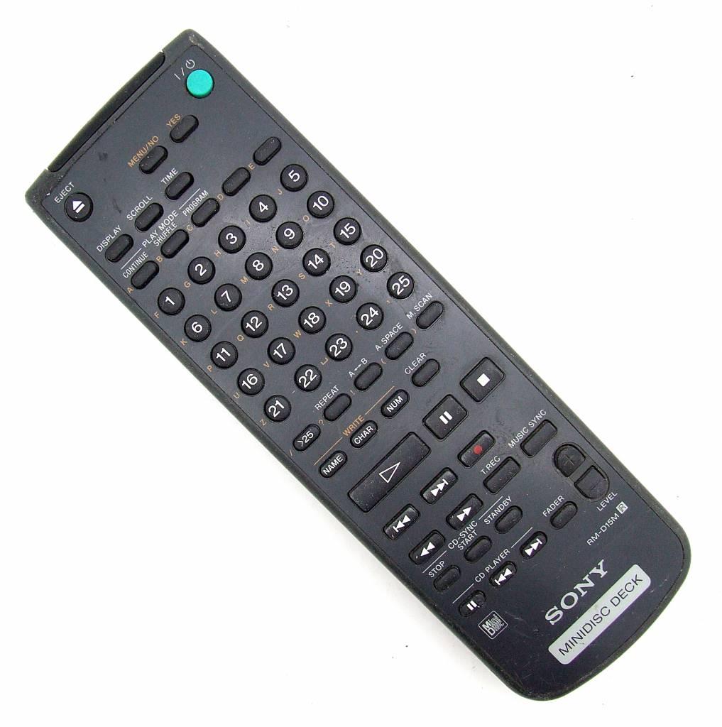 Sony Original Sony Fernbedienung RM-D15M Minidisc Deck remote control