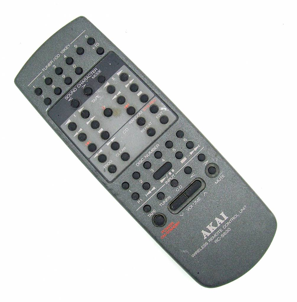 Akai Original Akai Fernbedienung RC-S630 Wireless remote control unit Tuner/CD 10KEY