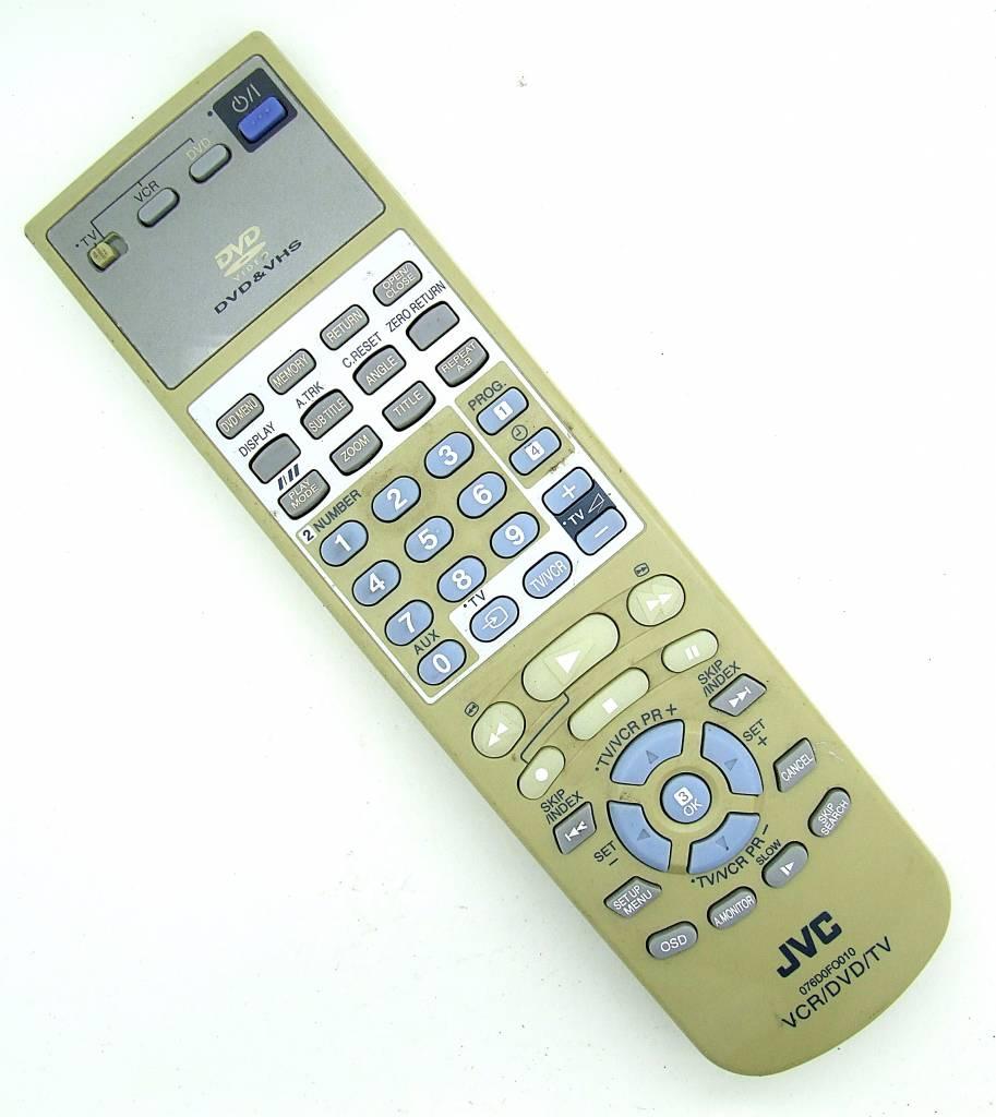 JVC Original JVC Fernbedienung 076D0FO010 VCR/DVD/TV remote control