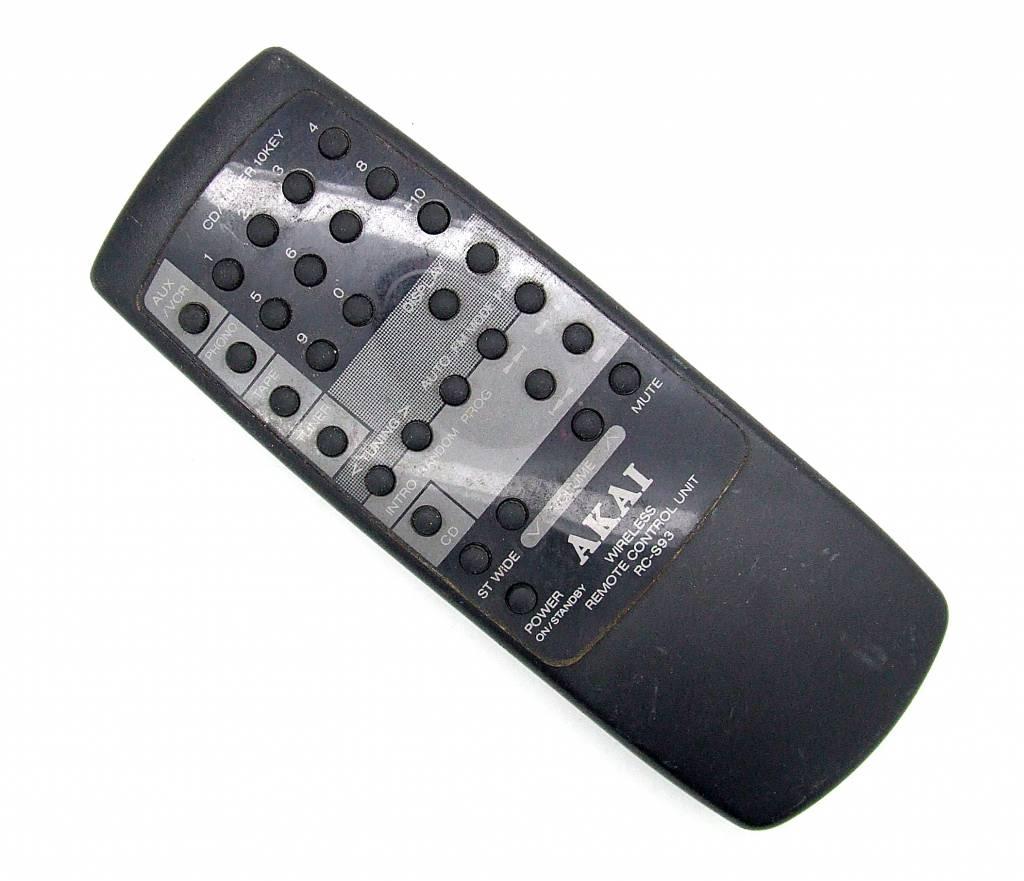 Akai Original Akai remote control RC-S93 Wireless remote control unit