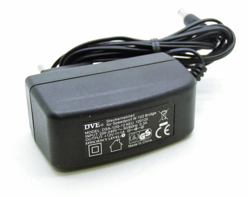 Original DVE power supply for Speedport W102 Bridge DSA-12G-12AEU / 12V 1A
