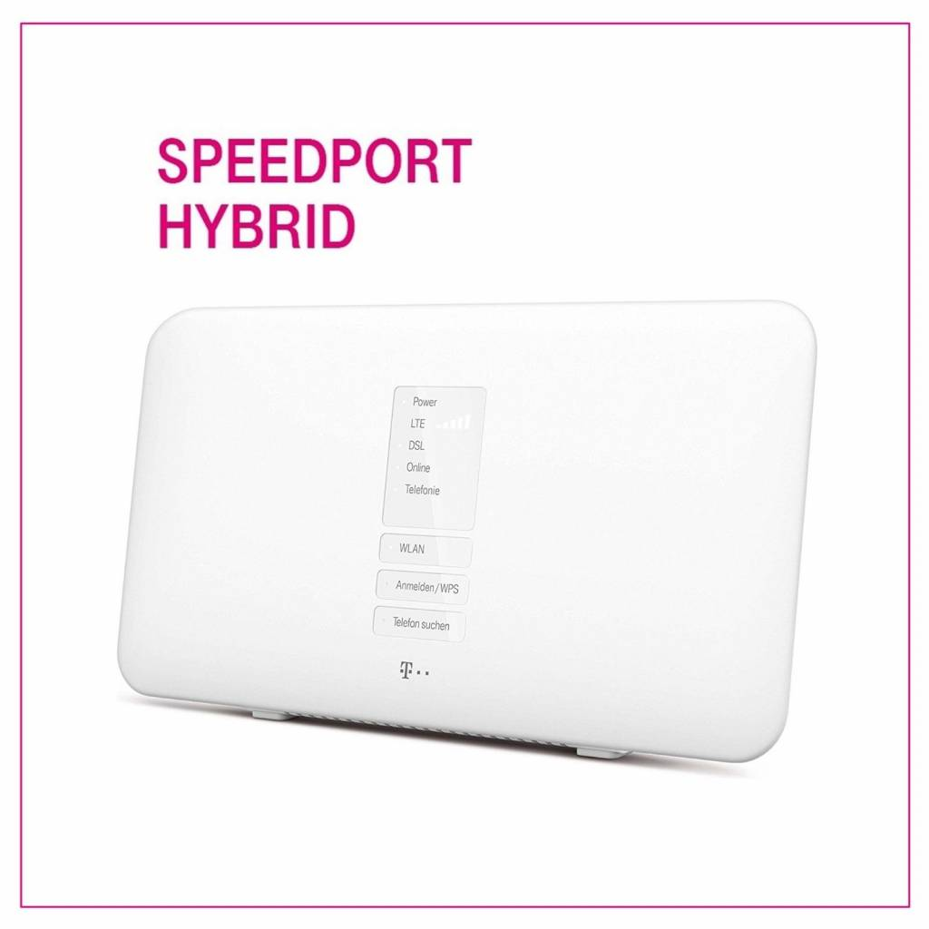 T-Home Telekom Speedport Hybrid 1300 Mbps 4-Port Wi-Fi Wlan DSL Router Modem
