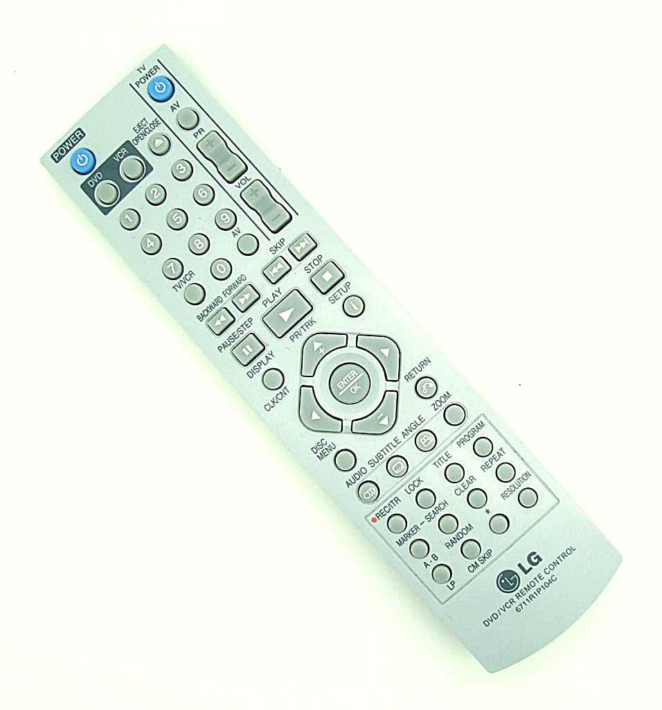 LG Original LG Fernbedienung 6711R1P104C DVD/VCR Remote Control