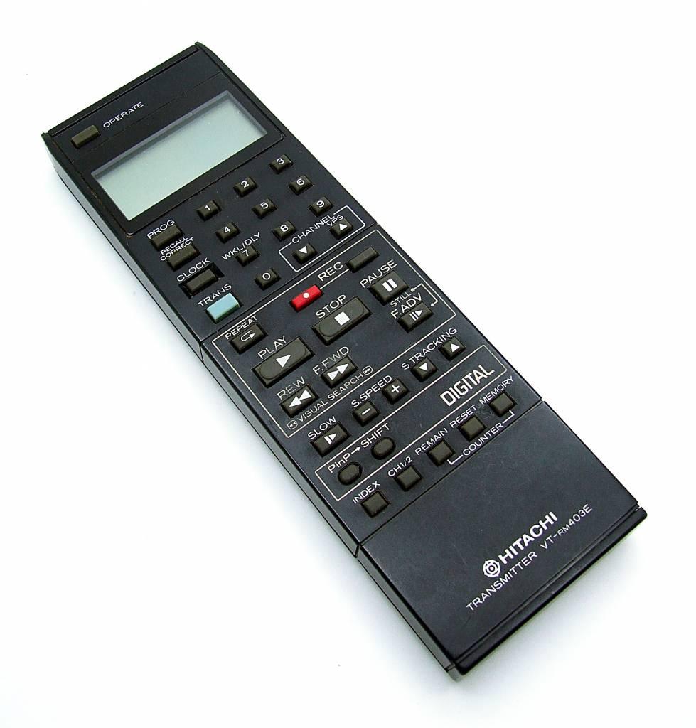 GENUINE ORIGINAL HITACHI VT-RM410E VCR REMOTE CONTROL VTMX410EUK