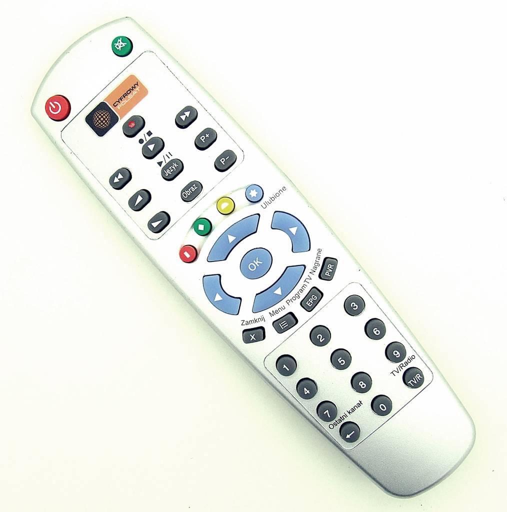 Cyfrowy Polsat Original remote control Pilot Cyfrowy Polsat Dekoder HD 5000 - MINI HD - RC01-2344 silver