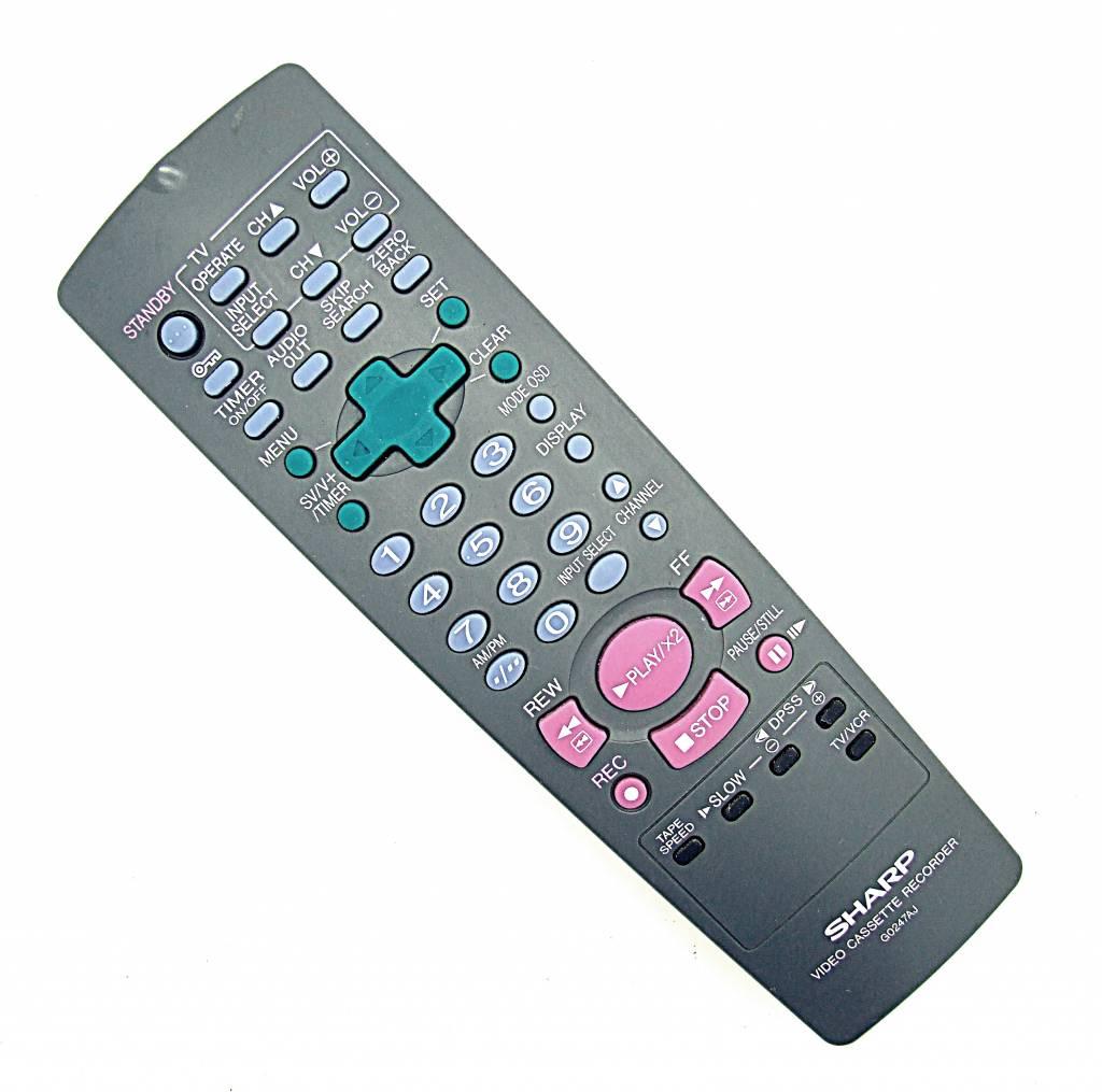 Sharp Original Sharp Fernbedienung G0247AJ Videorekorder VCR remote control
