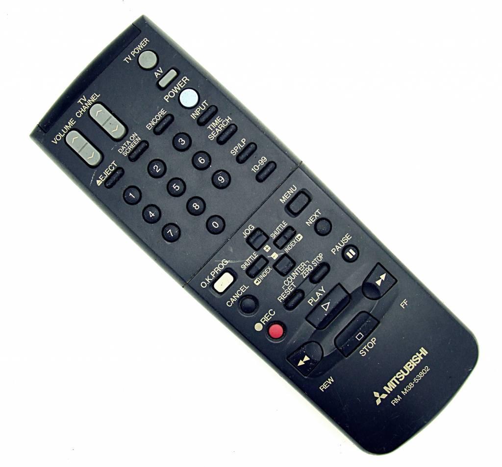 Mitsubishi Original Mitsubishi Fernbedienung RM M38-53802 TV/VCR remote control