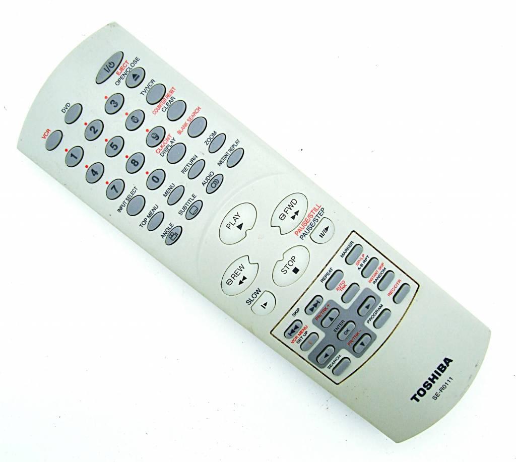 Toshiba Original Toshiba SE-R0111 VCR,DVD remote control