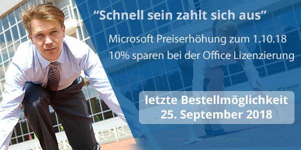 Microsoft Preiserhöhung für Office