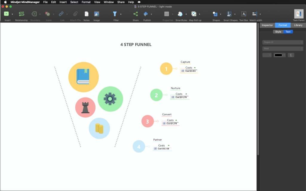 Mindmanager für mac 13 transparentes Teilen von Informationen