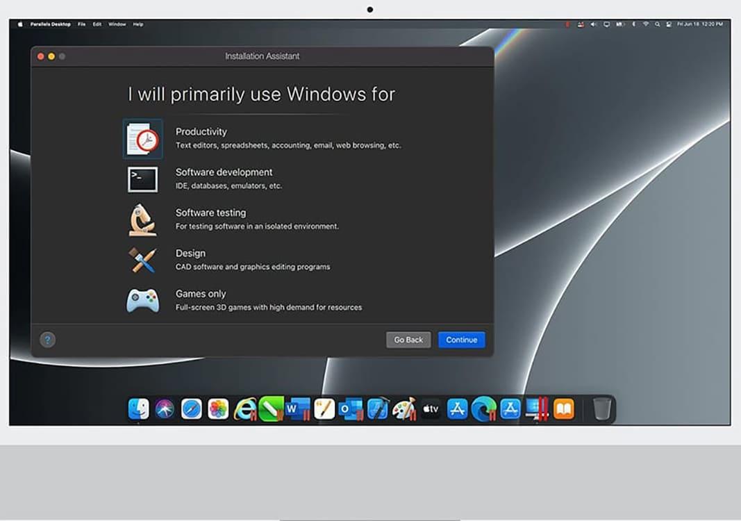 Parallels Desktop 17: Anpassung mit einem Klick