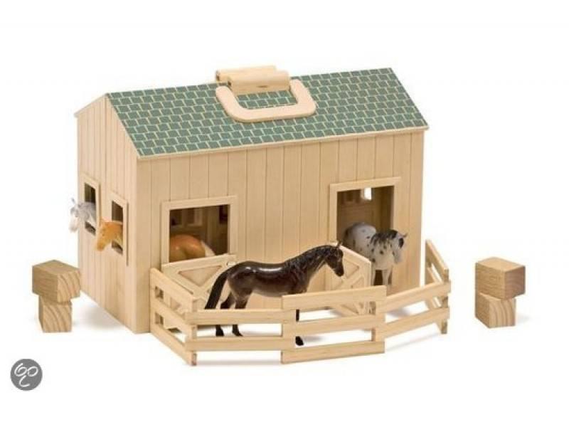 Melissa & Doug 13704, Houten meeneem paardenstal