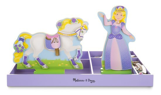 Melissa & Doug 19281, Lila & Lucky Magnetic Dress-Up Set
