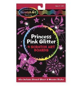 Melissa & Doug 15810, Princess Pink Glitter Scratch Art
