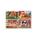 Melissa & Doug Melissa & Doug 13793, 4 boerderij puzzels van hout