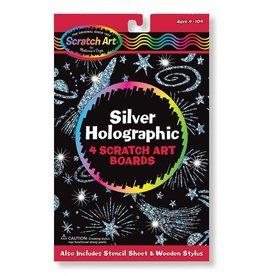 Melissa & Doug Melissa & Doug 15803 Scratch Art, Silver Holographic Pack