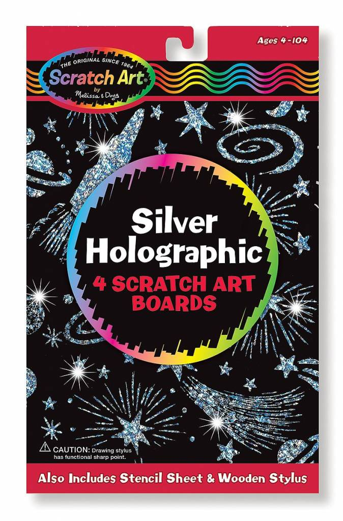 Melissa & Doug Melissa & Doug 15803 Scratch Art, Silver Holographic Pack