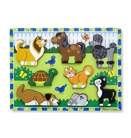 Melissa & Doug Melissa & Doug 13724, houten puzzel huisdieren