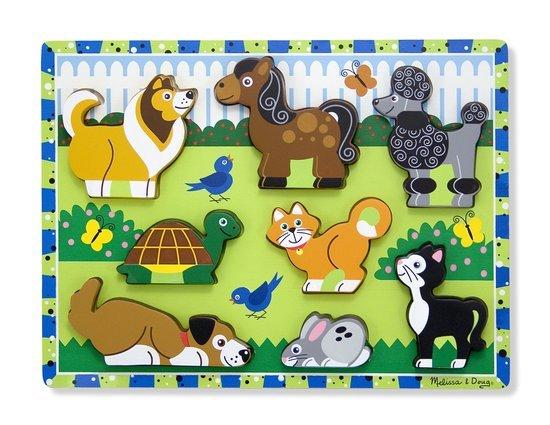 Melissa & Doug 13724, houten puzzel huisdieren