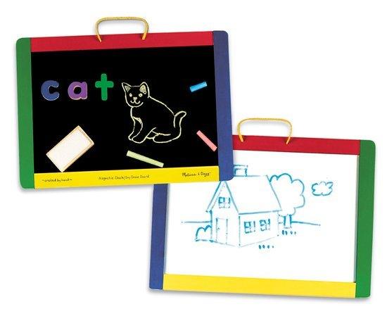 Melissa & Doug Melissa & Doug 10145 Dubbelzijdig magnetische/whiteboard met accessoires.