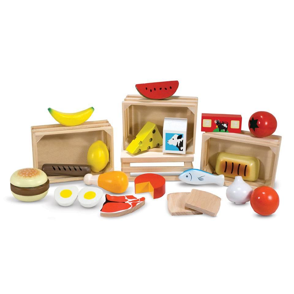 Melissa & Doug 10271 houten voedsel groepen
