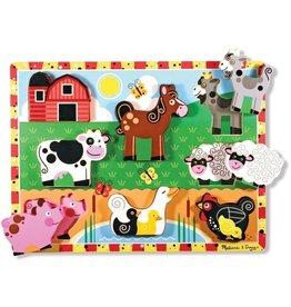 Melissa & Doug Melissa & Doug 13723 Houten puzzel boerderijdieren