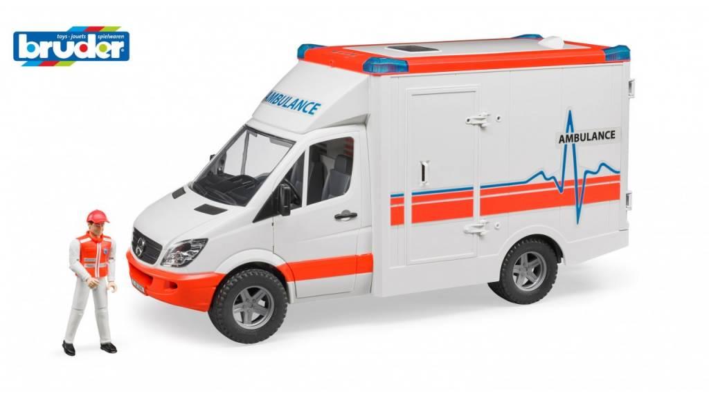 Bruder Bruder MB Sprinter Ambulance met Chauffeur