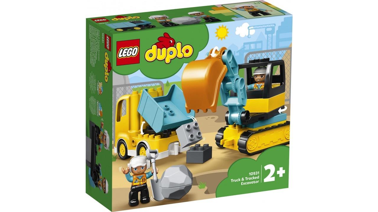 DUPLO Truck en Graafmachine met rupsbanden
