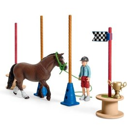 Schleich Pony's behendigheidstraining