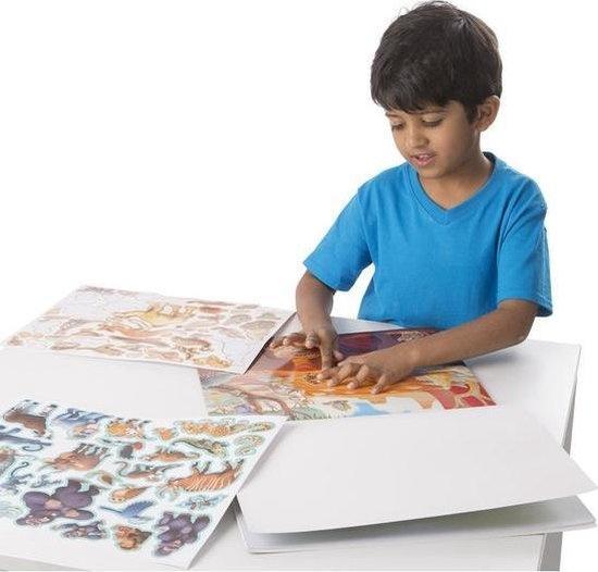 Melissa & Doug Melissa & Doug groot herbruikbaar stickerboek met stickers Jungle & Savanna