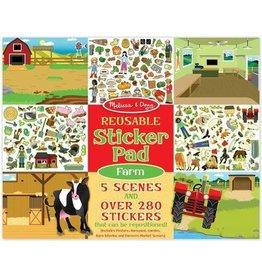 Melissa & Doug Stickerboek herbruikbaar Melissa & Doug boerderij farm sticker herbruikbare reusable stickers