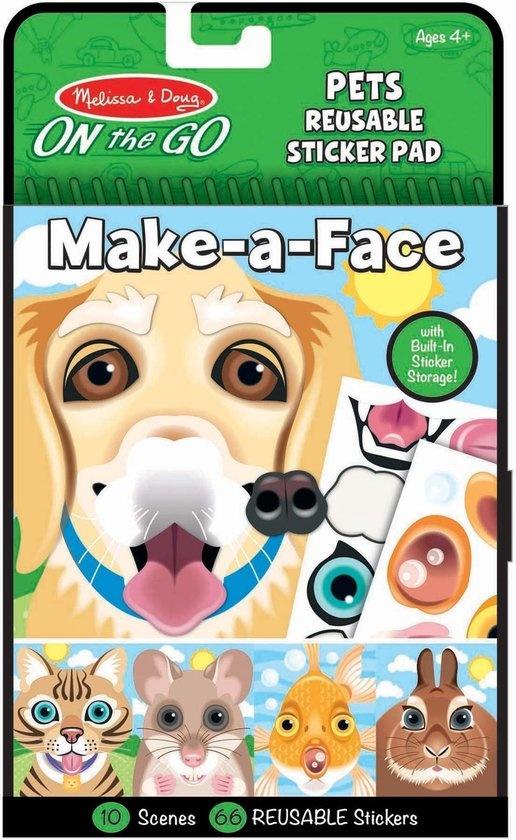 Melissa & Doug Melissa & Doug stickerboek make a face dieren
