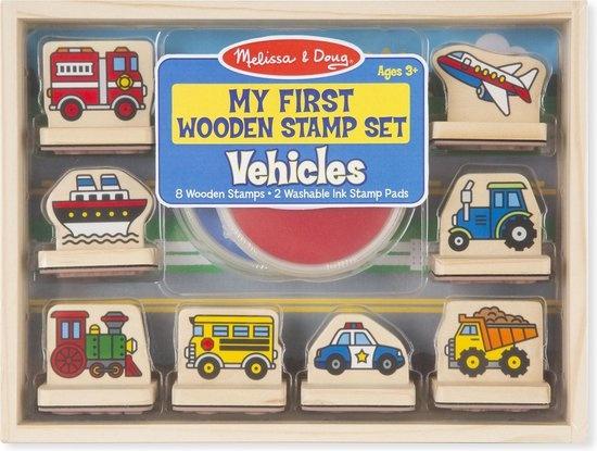 Melissa & Doug Melissa & Doug eerste stempel-set voertuigen