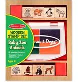 Melissa & Doug Melissa & Doug - Baby Dierentuin dieren - stempelset