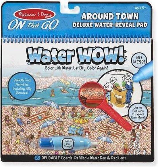 Melissa & Doug Melissa & Doug Water Wow de luxe, zoek en vind-Rond de stad