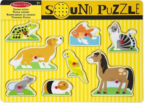 Melissa & Doug Melissa & Doug - Pets Legpuzzel met geluid