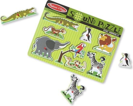 Melissa & Doug Melissa & Doug Houten Geluidspuzzel dierentuindieren