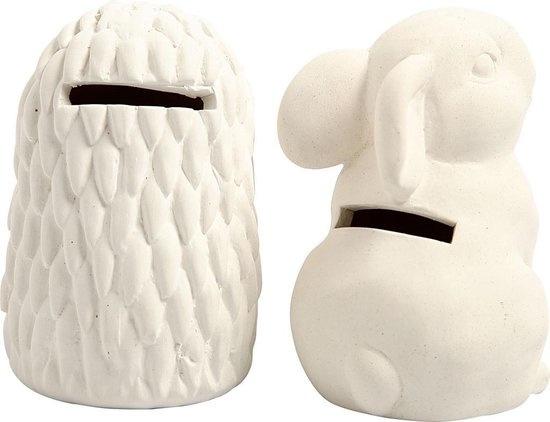 Creative Company Dierenspaarpot egel en konijn