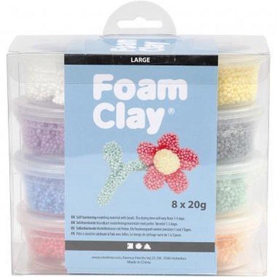 Creative Company Foam clay large 8 kleuren