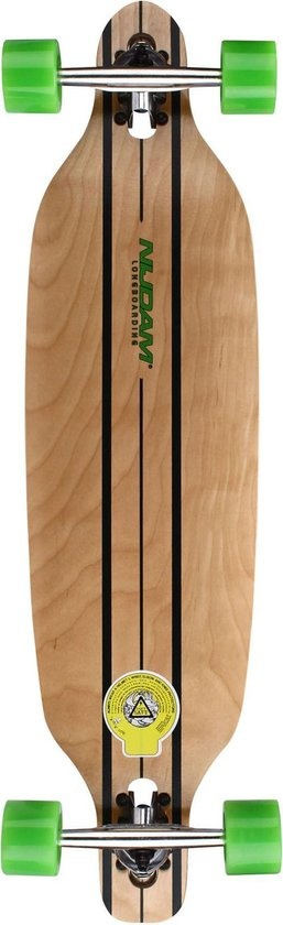 "Schreuder Sports Black Dragon Longboard 36"" Drop-through - Jungle Fever - Blank/Antraciet"