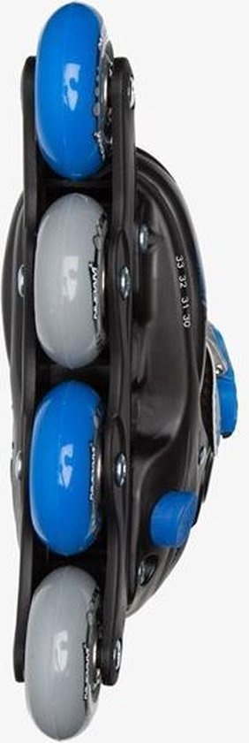 Schreuder Sports Nijdam Junior Inlineskates Junior Verstelbaar - Semi-Softboot - Zwart/Blauw/Grijs - 30-33