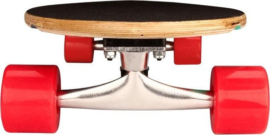 "Schreuder Sports Black Dragon Longboard 36"" Pintail - Tropical Funk - Donkergrijs/Wit/Roze/Smaragd/Geel"