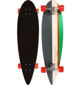 "Schreuder Sports Black Dragon Longboard 36"" Pintail - Tropical Funk - Donkergrijs/Wit/Roze/Smaragd/Geel"